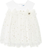 Mayoral Girl's Embroidered Flower Tulle Dress, Size 6-36 Months