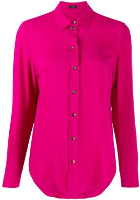 Joseph long-sleeve fitted blouse