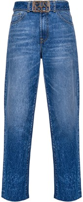 Pinko Logo-Buckle Straight Jeans