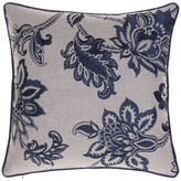 14 Karat Home, Inc. Embroidered French Country Throw Pillow, Indigo