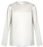 Raey Crew-neck silk-satin blouse
