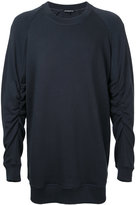 Ann Demeulemeester gathered sleeve sweatshirt - men - Cotton - M