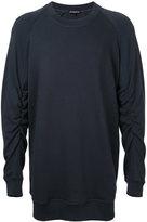 Ann Demeulemeester gathered sleeve sweatshirt