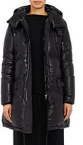 08sircus Women's Lace-Up Hooded Puffer Jacket-BLACK