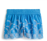 J.Crew J. Crew Floral Embroidered Pull-On Linen & Cotton Shorts
