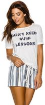 Roxy Puerto Pic Surf Lessons Ss Tee