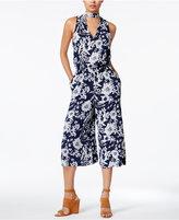 Amy Byer Juniors' Floral-Print Gaucho Jumpsuit