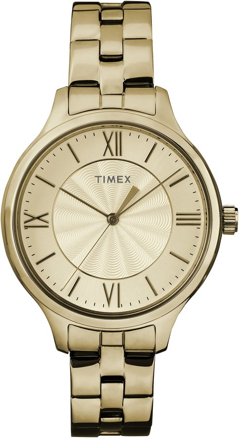 Timex Women's TW2R28100GP Fashion Style Dial and Stainless Steel Bracelet Watch