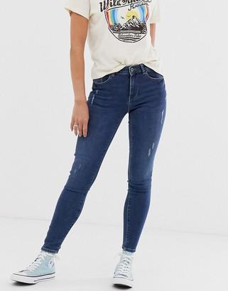 Pieces Bree skinny ankle grazer jeans