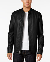 INC International Concepts Men's Genuine Leather Moto Jacket, Only at Macy's