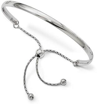 Sterling Silver Polished Adjustable Bangle Bracelet by Versil