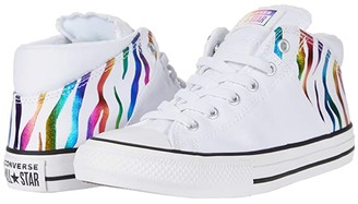 Converse Chuck Taylor(r) All Star(r) Madison - Mid (Little Kid/Big Kid) (White/Multi/Black) Girl's Shoes