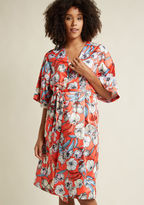 MinkPink Brews on the Balcony Robe in Punch in XS, S - Other Wrap Long by from ModCloth