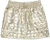 Leifsdottir Metallic Gold Floral Leather Skirt