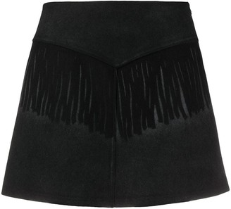 MM6 MAISON MARGIELA Fringe Detail Mini Skirt