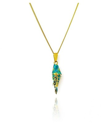 Daixa Somed Koi Fish 18K Solid Gold Necklace
