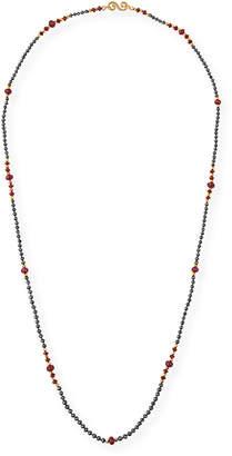 Black Diamond Splendid Company 18k Long & Ruby Necklace