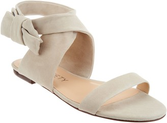Sole Society Suede Bow Sandals - Calynda