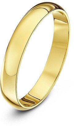 Theia Unisex Super Heavy Weight 3 mm D Shape 9 ct Yellow Gold Wedding Ring - H