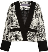 Ungaro Animal-print Crepe, Jersey And Satin Jacket - Snake print