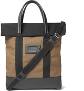 Balenciaga Leather-trimmed Canvas Tote Bag