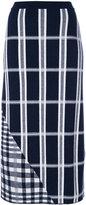 Victoria Beckham tartan signature skirt - women - Polyamide/Spandex/Elastane/Viscose/Wool - 1