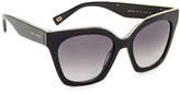 Marc Jacobs Chain Square Sunglasses