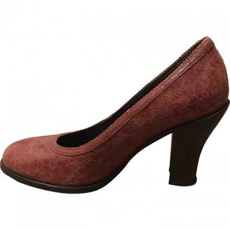Dries Van Noten Burgundy Leather Heels