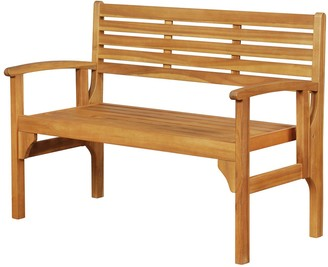 Linon Acacia Outdoor Folding Bench