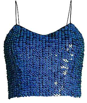 Alice + Olivia Women's Archer Embellished Cropped Cami Top