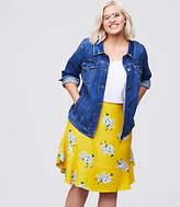 LOFT Plus Bouquet Flounce Skirt