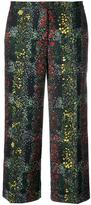Marco De Vincenzo floral print cropped trousers - women - Polyester - 40