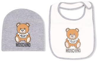 MOSCHINO BAMBINO Two-Piece Bib Beanie Hat Set