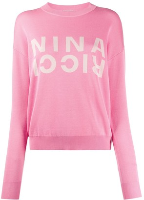 Nina Ricci Knitted Logo Jumper