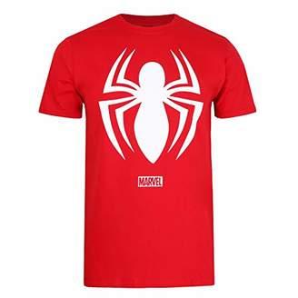 Marvel Men's Spiderman Logo T-Shirt,Small