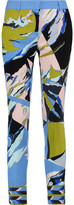 Emilio Pucci Printed Stretch-Crepe Skinny Pants