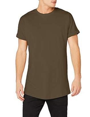 Urban Classic Men's Long Shaped Turnup Tee T-Shirt,L