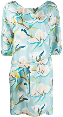 Altea Floral Silk-Satin Dress