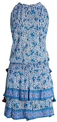 Poupette St Barth Floral Ruffle Mini Dress