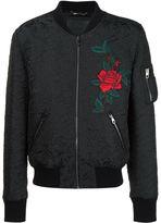 Dolce & Gabbana rose patch jacquard bomber jacket