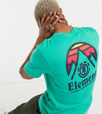 Element Tri Tip t-shirt in green Exclusive at ASOS