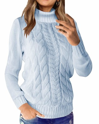 Zanzea Styledome Women Casual Cable Knit Oversized Baggy Long Pullover Knitted Plain Chunky Sweater Jumper Tops Shirt