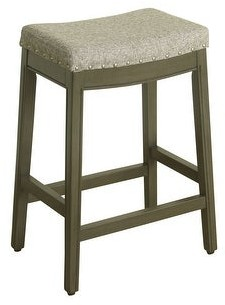 HomePop Blake Nailhead Counter Stool - 24 inches - 24 inches