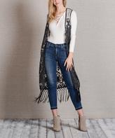 Paparazzi Black Lace Fringe Vest