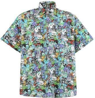 Vetements Cartoon Mania Shirt, Cold Multicolor