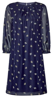 Dorothy Perkins Womens **Billie & Blossom Blue Teacup Print Chiffon Shift Dress, Blue