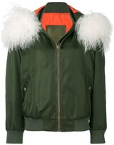 Mr & Mrs Italy customisable bomber with fur collar