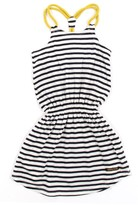 Finger In The Nose Striped braces dress