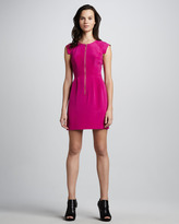 Rebecca Taylor Front-Zip Crepe Dress