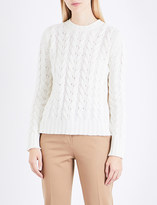 Max Mara Maestro cable-knit wool and cashmere-blend jumper